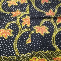 Kain Batik Madura Santiu Kuning-Hitam