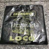 Kantong Plastik Kresek Loco Ekonomis 17 x 33 Hitam isi 50 lembar
