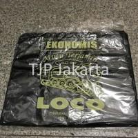 Kantong Plastik Kresek Loco Ekonomis 35 x 55 Hitam isi 50 lembar