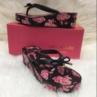 TERLARIS Sandal Wedges Kate-Spade Guies Rubber / Rose