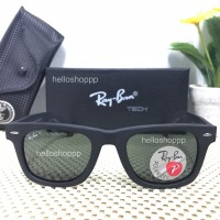 Original Ray Ban Wayfarer 2140 Polarized Lens black Doff