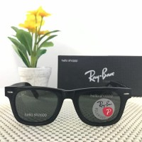 Kacamata Ray Ban Wayfarer 2140 Polarized Lens Black Glossy Original