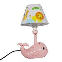 BEST Lampu Meja Lampu Tidur Anak Dolphin Pink Lucu Unik