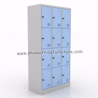 Locker Besi Modera 12 Pintu Kombinasi Blue Grey New SUPER