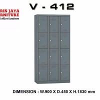 locker besi 12 pintu merk VIP type V 412 SUPER