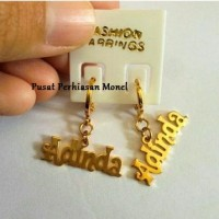 Anting Nama Gold - Perhiasan Nama