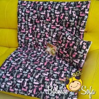 empuk lembut Balmin Sofa Karakter Kucing PINK CAT (bantal selimut mini