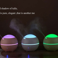 2 in 1 Function- Romantic Projection Light Humidifier Oil Diffuser- 1
