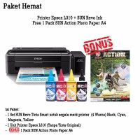 PRINTER EPSON L310 + Infus SUN REVO Ink 100ml (4 Warna)