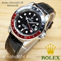 Jam Tangan Pria Rolex Otomatis 27 Super Kulit Sport Mewah Murah