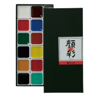 AP260-12V Akashiya Gansai Tambi 12-color set