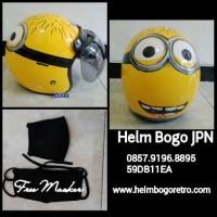 Helm Bogo JPN Minion Warna Kuning kaca Bogo Ori