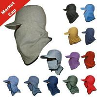 topi jepang masker samping / topi mancing anti panas naik gunung hats