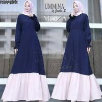 dress moza ummina / jual baju murah grosir pakaian wanita gamis