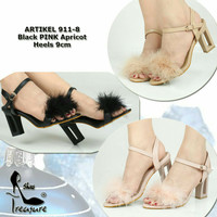 sandal heels bulu Ninewest 911-8