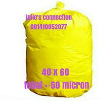 Kantong Plastik Sampah Medis Kuning 40 x 60 tebal +-50 micron