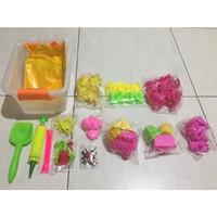 Paket Cetakan Lengkap Mainan Pasir dengan Box Container