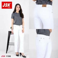 JSK 1106 (Size 31-34) - White Cutbrai Jeans