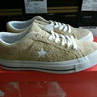 Sepatu CONVERSE One Star Cons Vintage Suede Khaki White (ORIGINAL)