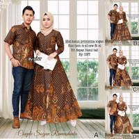 ramasinta couple gamis sarimbit hem batik