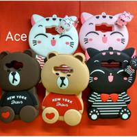 Imut.... Case 4D Karakter Cat Kucing Samsung J1 Ace Karakter Casing Hp