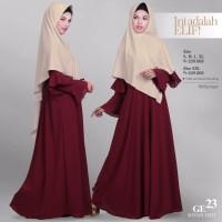 SALE Baju Gamis Wanita-Dress GE 23 Merah Hati By ELIF