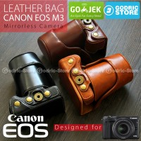 Canon EOS M3 Leather Bag / Case / Tas Kamera Kit 15-45 MM / 18-55 MM