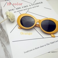 A42 Orange Kacamata Sunglasses Kurt Cobain Nirvana Alien Shaped Unisex
