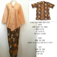 fashion wanita kebaya/set kebaya couple brokat floy flocad
