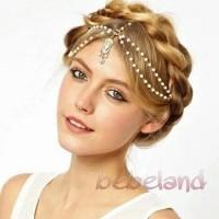 super diskon Chain headband headpiece india aksesoris hijab