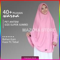 Jual Jilbab Instan Pet Antem Size SUPER JUMBO / Hijab Kaos Bergo Pet Syari Murah