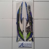 Stiker Striping Motor Yamaha Fino Sporty FI 2015 Biru