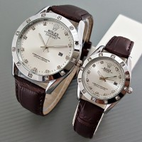 Jam Tangan Rolex Couple Harga Murah Warna Putih Chrono Aktif