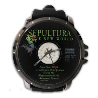 Jam Tangan Custom Cover CD SEPULTURA - SLAVE NEW WORLD Premium