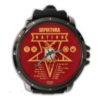 Jam Tangan Custom Cover CD SEPULTURA - NATION Premium