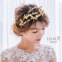 Aksesoris Tiara Bando Capung Emas Wedding l  Lenka ARE 013 - Emas
