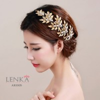 Aksesoris Pesta Emas Wedding l Headpiece Tiara Pengantin Lenka- ARE005