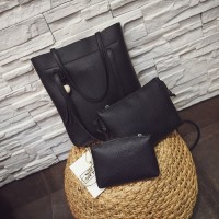 3in1 Tassel Bucket Bag Leather Korean Fashion Women Handbags Shoulder