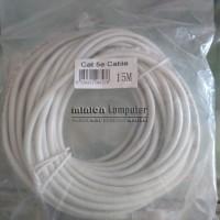 Ethernet Cable Kabel LAN UTP Cat 5e 15 meter + RJ45