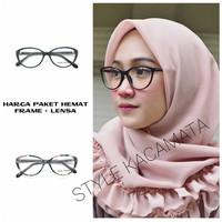 Frame Kacamata Wanita, Kaca mata Anti Radiasi, Kacamata Minus : 605