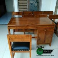 BEST meja kantor meja guru nakas kayu jati kwalitas A