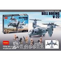 TERLARIS LEGO BRICK DECOOL 2113 BELL BOEING V 22 MILITARY CARRIER HUM