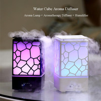 Ultrasonic Water Cube Oil Diffuser Humidifier 7 Colors LED -200ML
