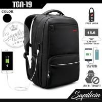 Tas Ransel Unisex 15.6 Inch USB Anti Theft Tigernu Backpack TGN-19