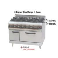 6 Burner Gas Range with Oven Merek GETRA OriginalRBJ6 MURAH