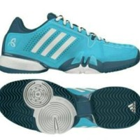 Adidas Sepatu Tennis Badminton Novak Pro Blue Ocean Shoes original