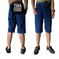 Harga Celana Pendek Pria Jeans Biru Tua Biowash | WIKIPRICE INDONESIA