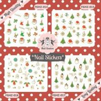 Stiker Kuku Natal. Christmas Nail Stickers. Stiker Santa