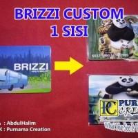 custom brizzi custom pakai gambar sendiri satu sisi atau satu muka