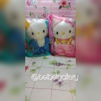 Boneka hello kitty wedding couple prince and princess kingdom segelan